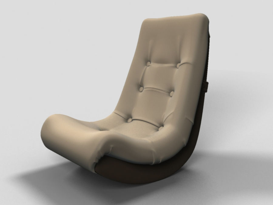 Ordinaire Banana Rocker Chair Royalty Free 3d Model   Preview No. 2