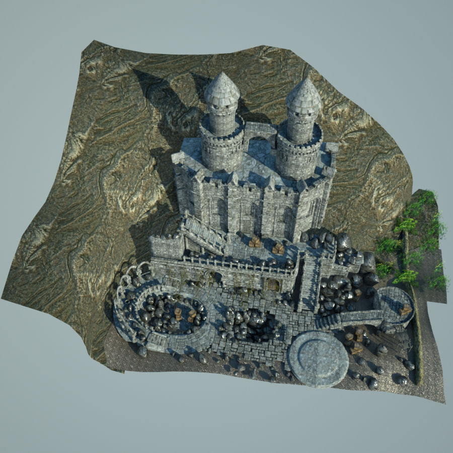 Fantasy Castle royalty-free 3d model - Preview no. 3