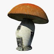 Casa de hongos modelo 3d
