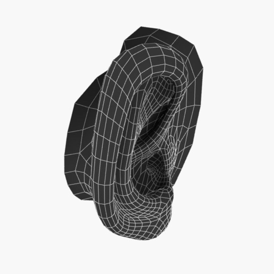 耳朵V3 royalty-free 3d model - Preview no. 6