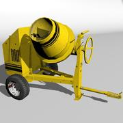 Low Ploygon Concrete Mixer 3d model