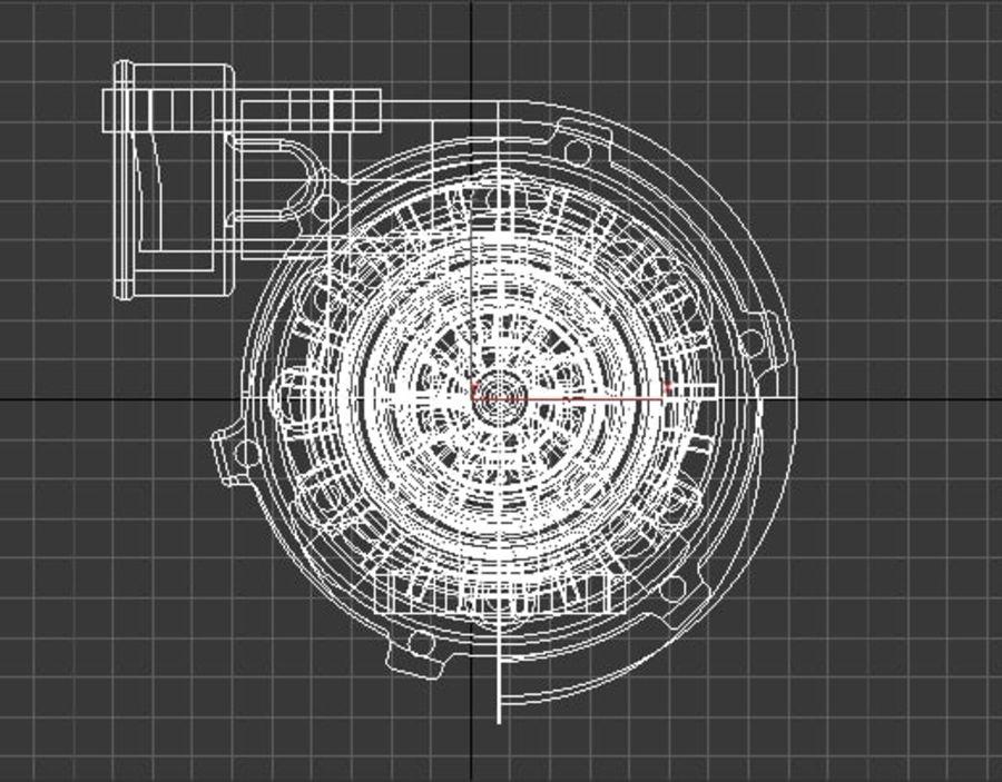涡轮增压器 royalty-free 3d model - Preview no. 3