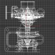 涡轮增压器 3d model