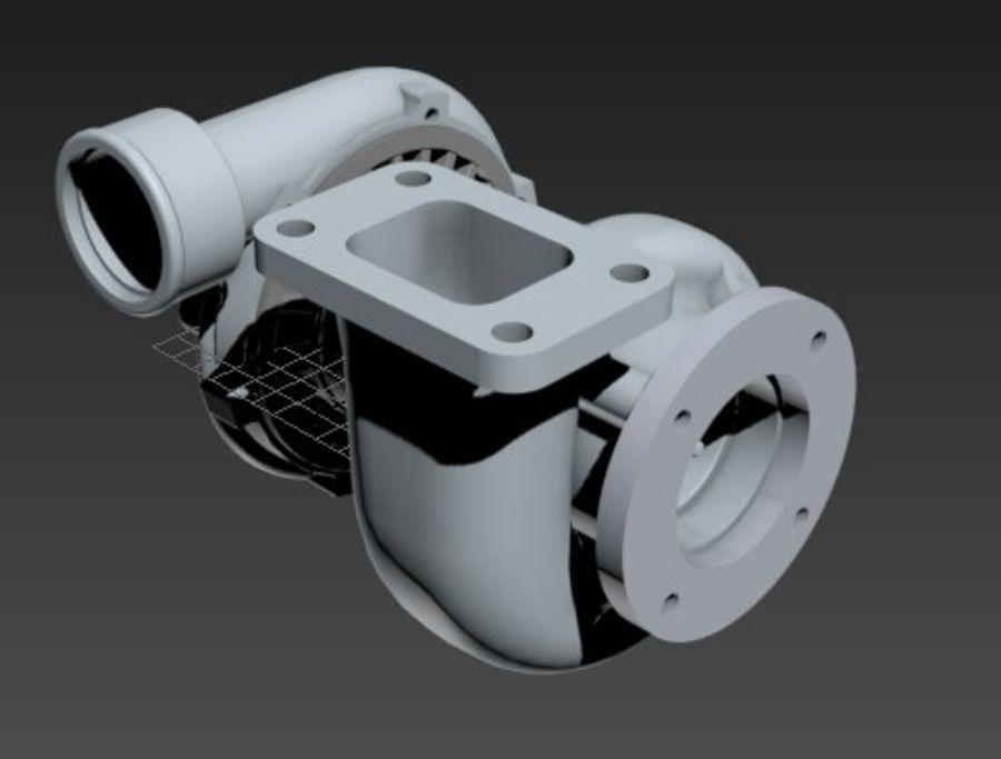 涡轮增压器 royalty-free 3d model - Preview no. 4
