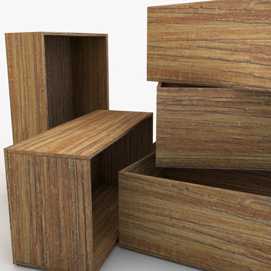 Wooden Crate 04 royalty-free 3d model - Preview no. 3