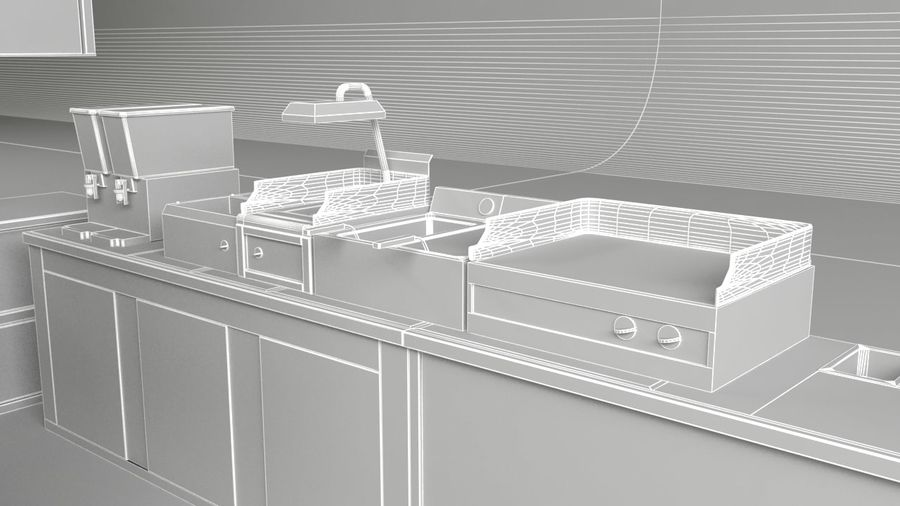 Kafé för kafé royalty-free 3d model - Preview no. 1
