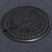 下水道のふた 3d model