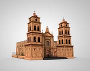 Old Brick Church - Santa Cruz 3d model