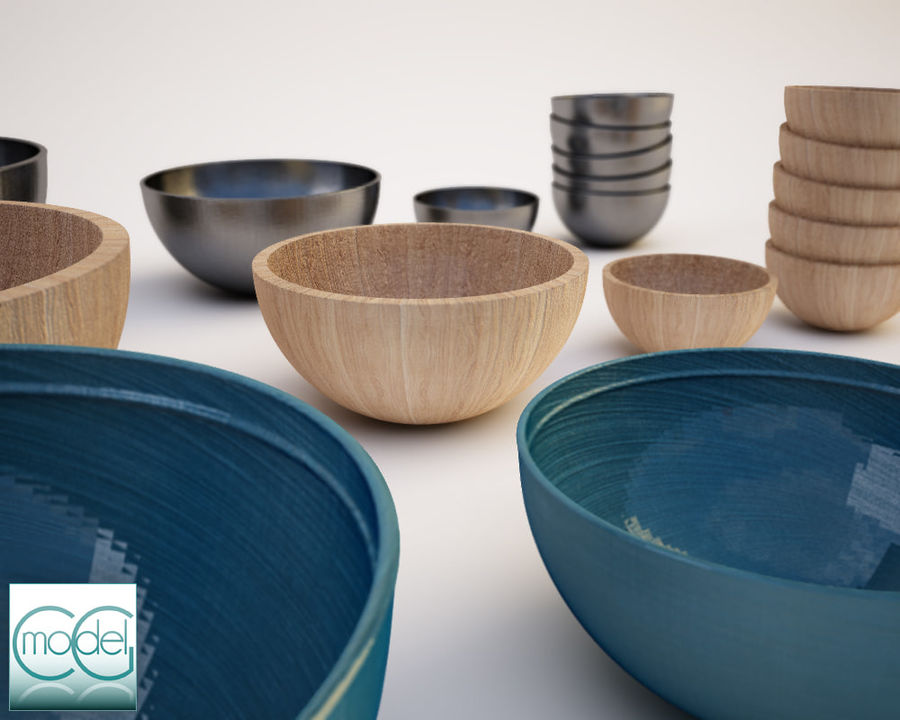 serving bowls royalty-free 3d model - Preview no. 6