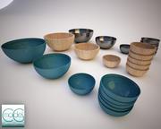 serving bowls 3d model