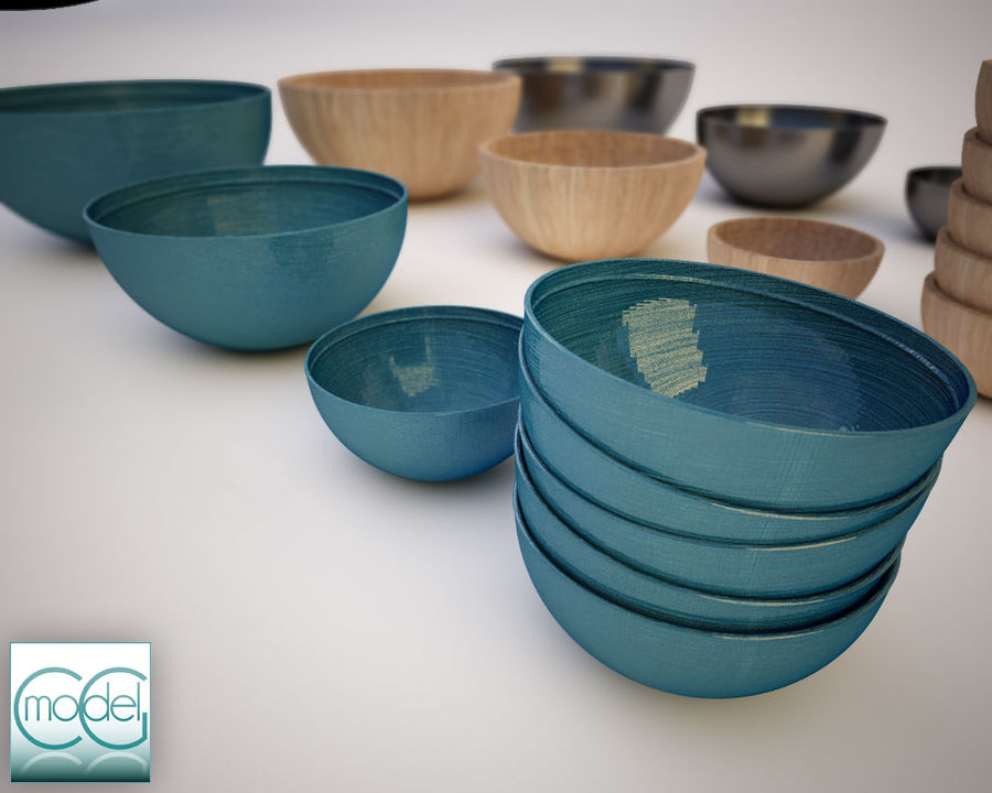 serving bowls royalty-free 3d model - Preview no. 7