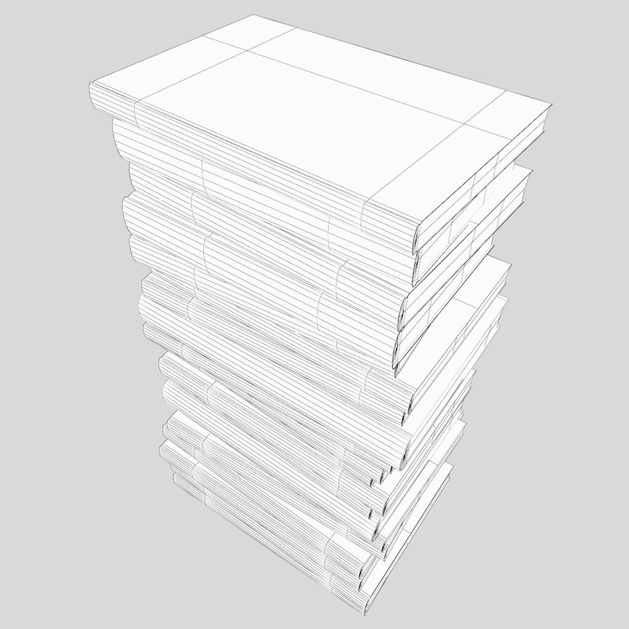 Stapel Bücher royalty-free 3d model - Preview no. 6
