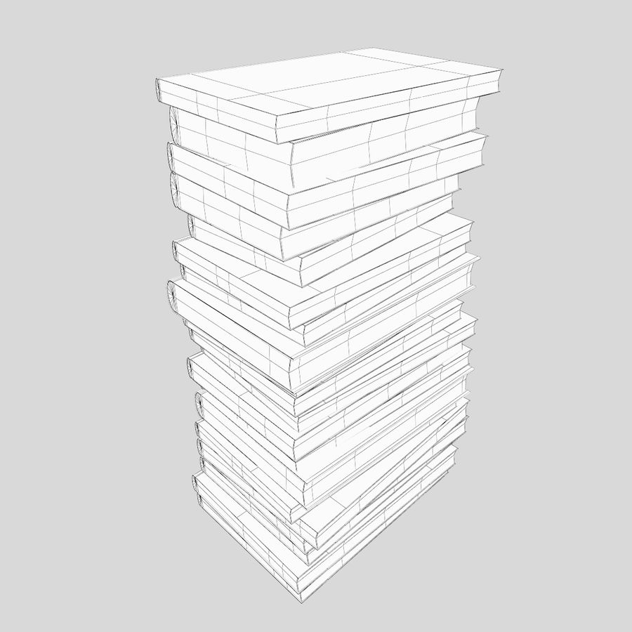 Stapel Bücher royalty-free 3d model - Preview no. 8