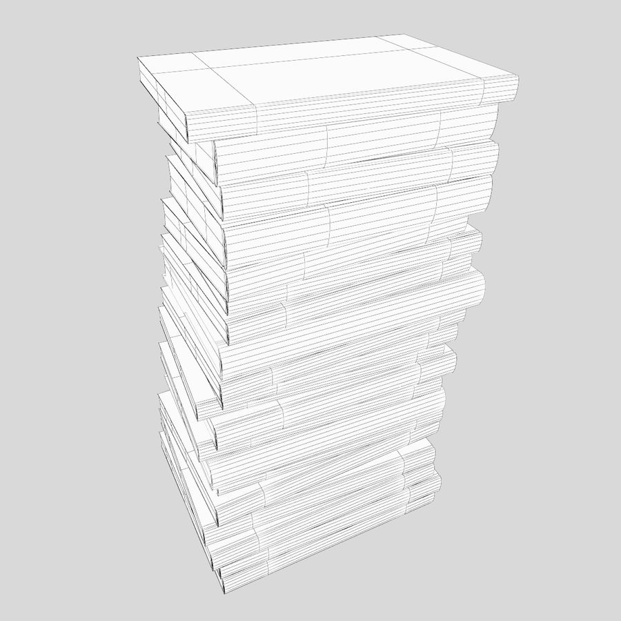Stapel Bücher royalty-free 3d model - Preview no. 7