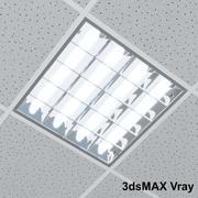 Büro-Deckenleuchte 3d model