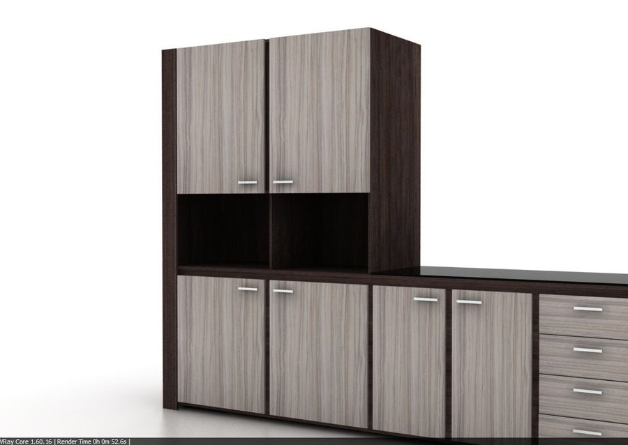 Armoire de cuisine design moderne royalty-free 3d model - Preview no. 5