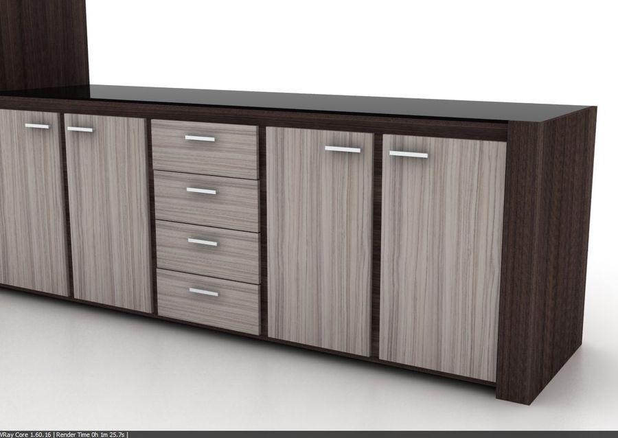 Armoire de cuisine design moderne royalty-free 3d model - Preview no. 4