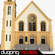 Kościół Baptystów wewnątrz i na zewnątrz 3d model