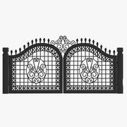 Wrought Iron Gate 23 3d model