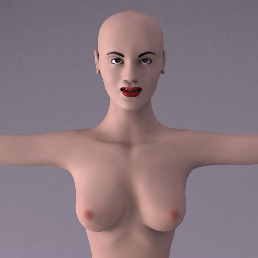 Женщина royalty-free 3d model - Preview no. 15