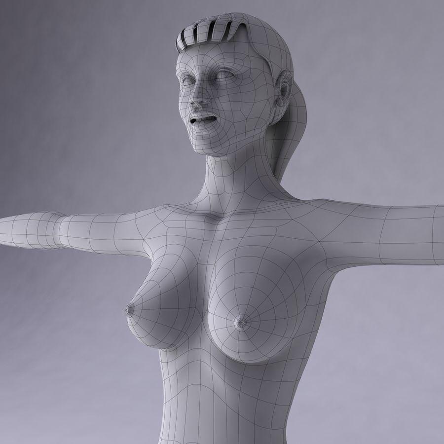 Kvinna royalty-free 3d model - Preview no. 23