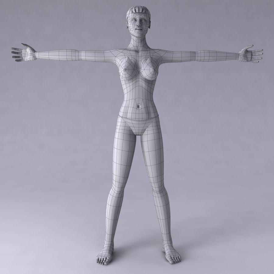 Kvinna royalty-free 3d model - Preview no. 19