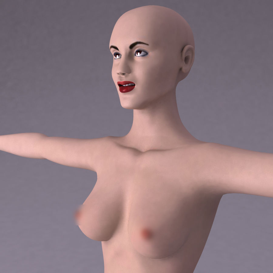 Kvinna royalty-free 3d model - Preview no. 9