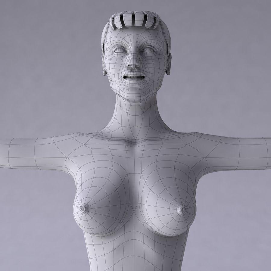 Kvinna royalty-free 3d model - Preview no. 24