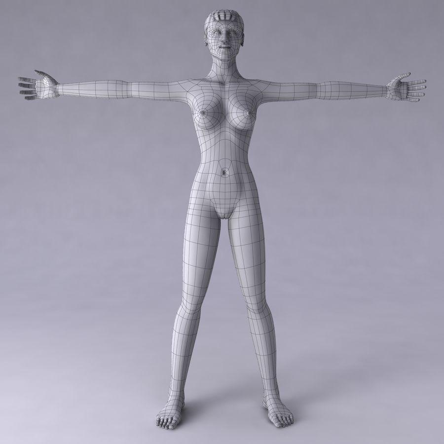 Женщина royalty-free 3d model - Preview no. 20