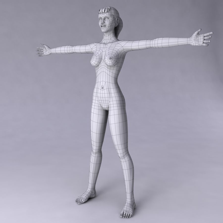 Женщина royalty-free 3d model - Preview no. 22