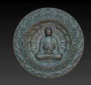 Rilievo del Buddha 3d model