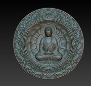 Buddha relief 3d model