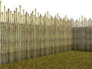 대나무 울타리 3d model