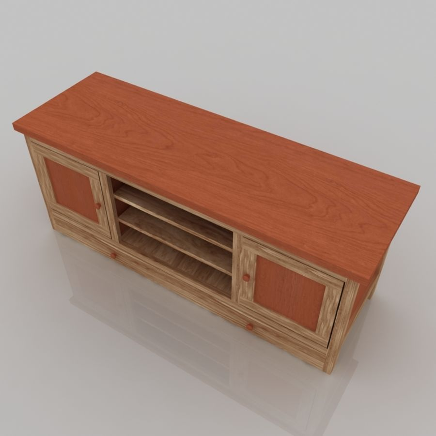 Muebles de madera royalty-free modelo 3d - Preview no. 4