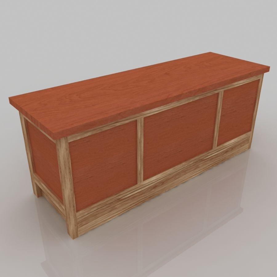 Muebles de madera royalty-free modelo 3d - Preview no. 5