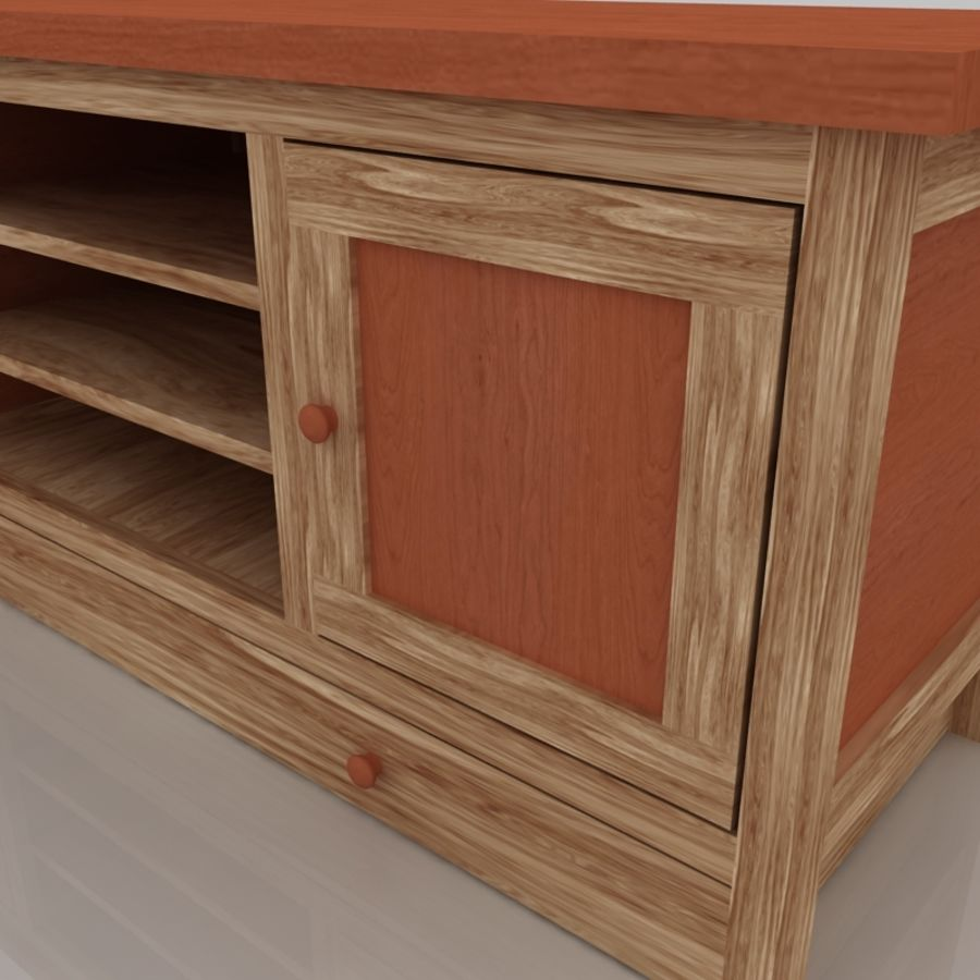 Muebles de madera royalty-free modelo 3d - Preview no. 7