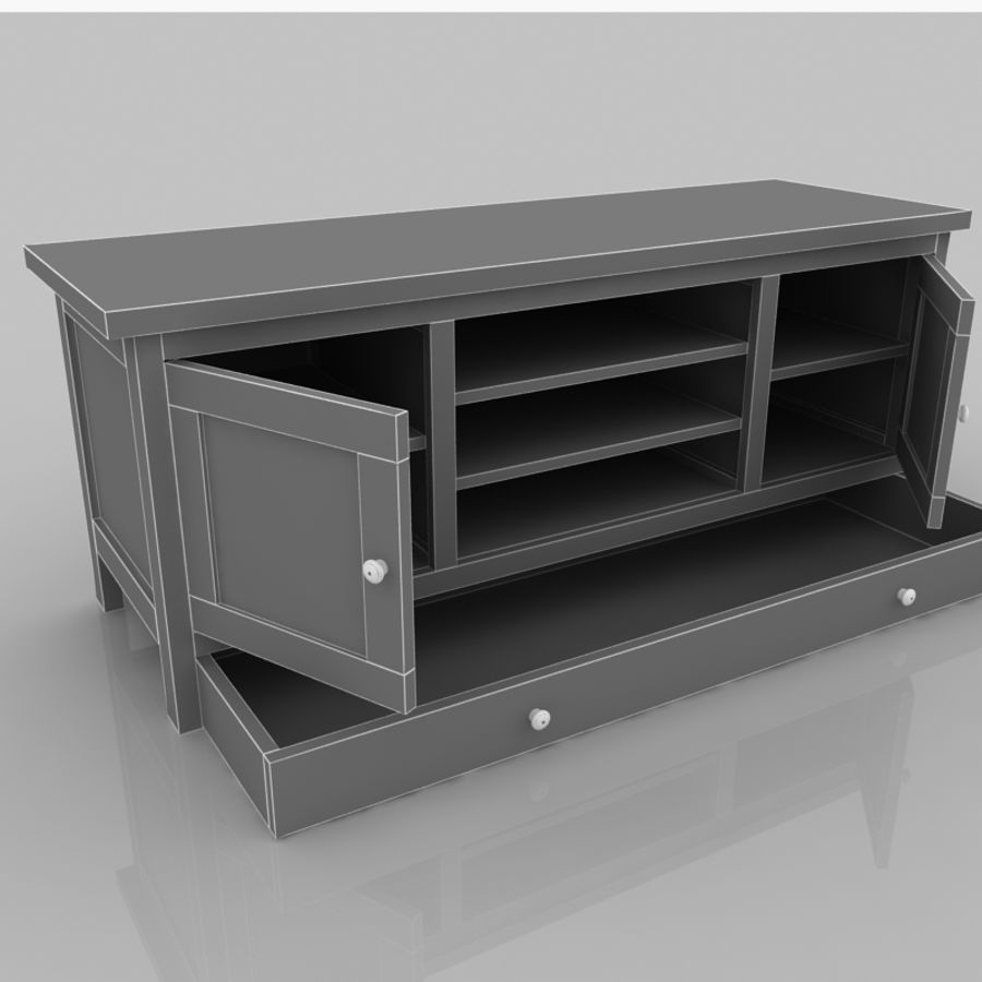Muebles de madera royalty-free modelo 3d - Preview no. 9