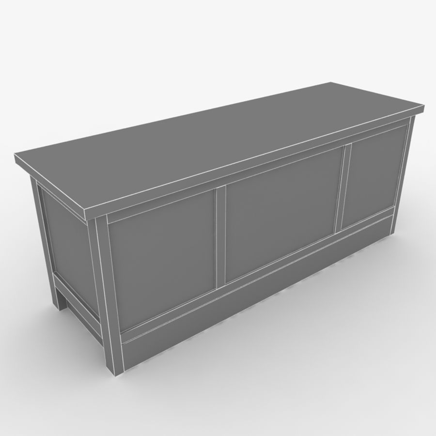 Muebles de madera royalty-free modelo 3d - Preview no. 6