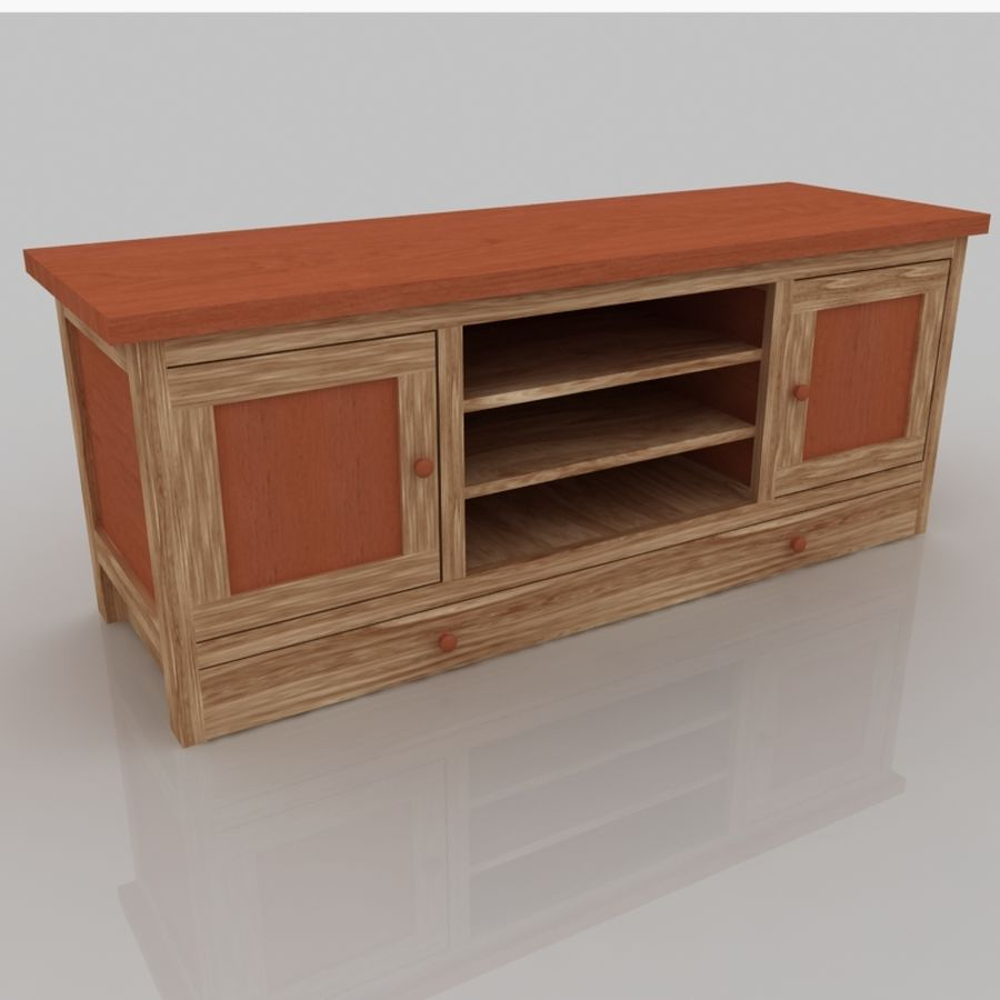 Muebles de madera royalty-free modelo 3d - Preview no. 2