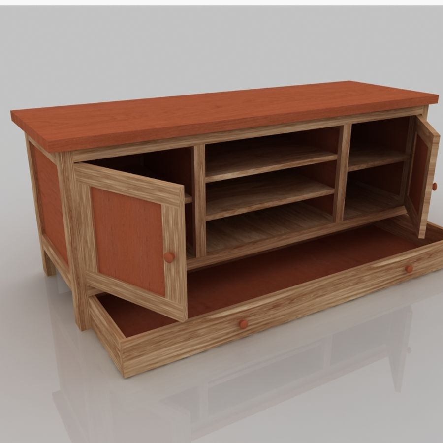 Muebles de madera royalty-free modelo 3d - Preview no. 8