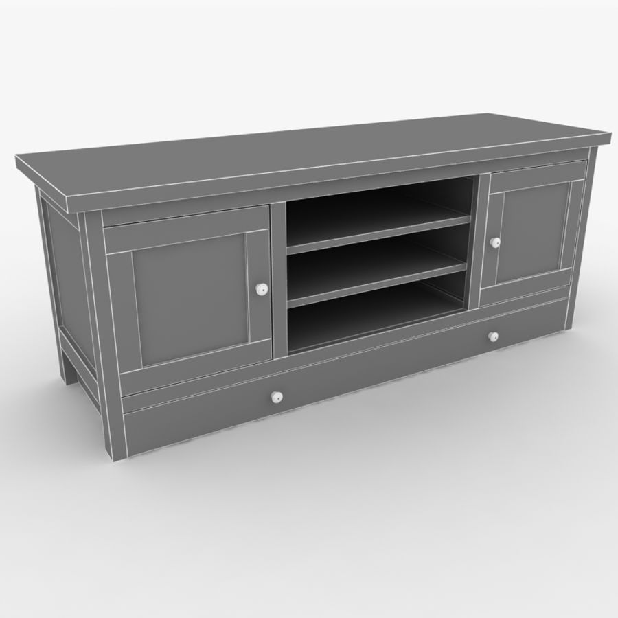 Muebles de madera royalty-free modelo 3d - Preview no. 3