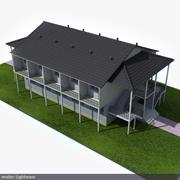 교외 건물 3d model