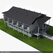 Suburban building 3d model
