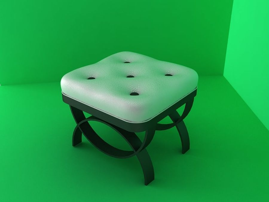 Silla de dormitorio royalty-free modelo 3d - Preview no. 3