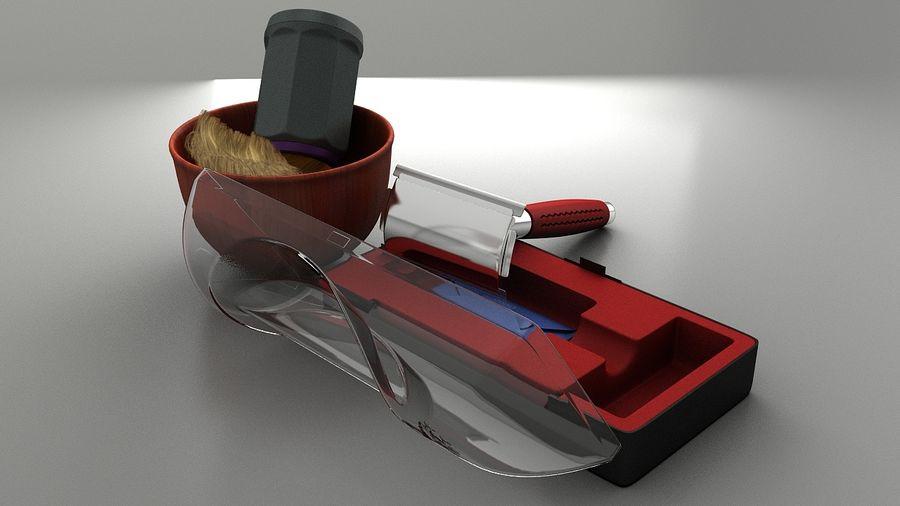 Vecchio rasoio russo royalty-free 3d model - Preview no. 2