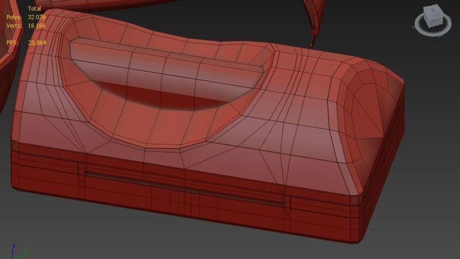 Vecchio rasoio russo royalty-free 3d model - Preview no. 7