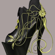 Chaussures roses 3d model