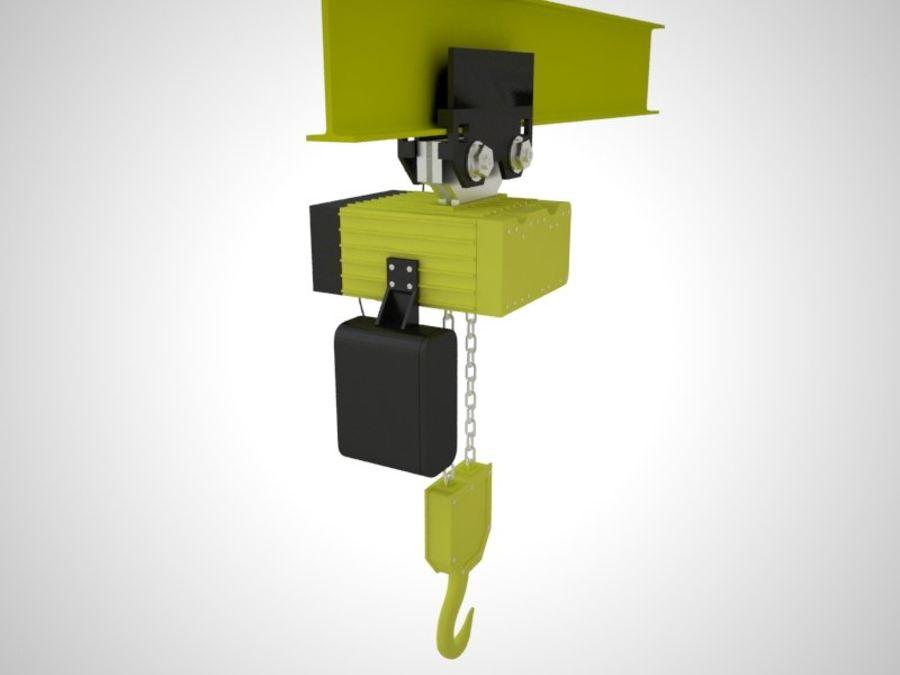 Grua Polipasto royalty-free 3d model - Preview no. 2