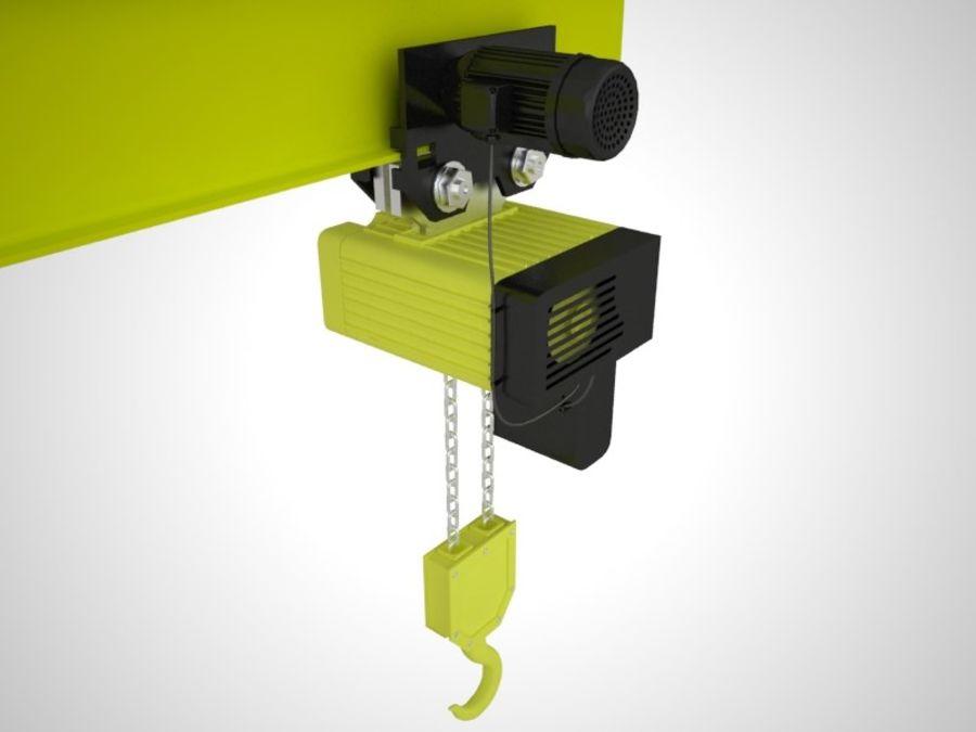 Grua Polipasto royalty-free 3d model - Preview no. 1