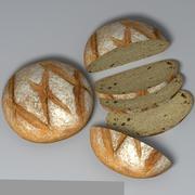 Pagnotta rotonda 3d model